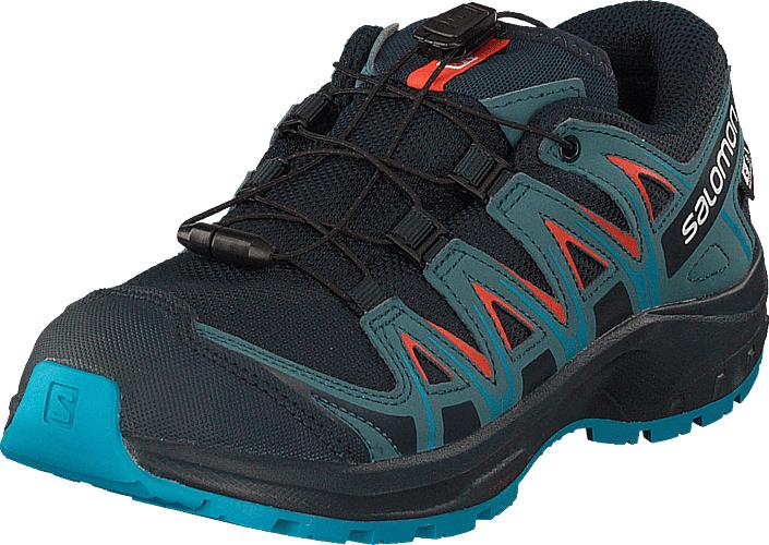 Image of Salomon Xa Pro 3d Cswp J Navyblazer/mallardblue/hawaiia, Kengät, Sneakerit ja urheilukengät, Tennarit, Turkoosi, Sininen, Lapset, 37