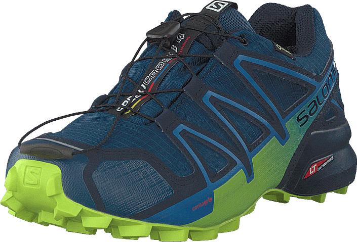 Salomon Speedcross 4 Gtx® Poseidon/navyblazer/limegreen, Kengät, Sneakerit ja urheilukengät, Tennarit , Sininen, Turkoosi, Miehet, 43