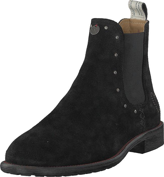 Odd Molly Mollyhood Low Suede Almost Black, Kengät, Bootsit, Chelsea boots, Musta, Naiset, 38