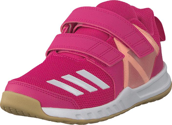 Adidas Sport Performance Fortagym Cf K Reamag/ftwwht/cleora, Kengät, Sneakerit ja urheilukengät, Sneakerit, Vaaleanpunainen, Unisex, 34