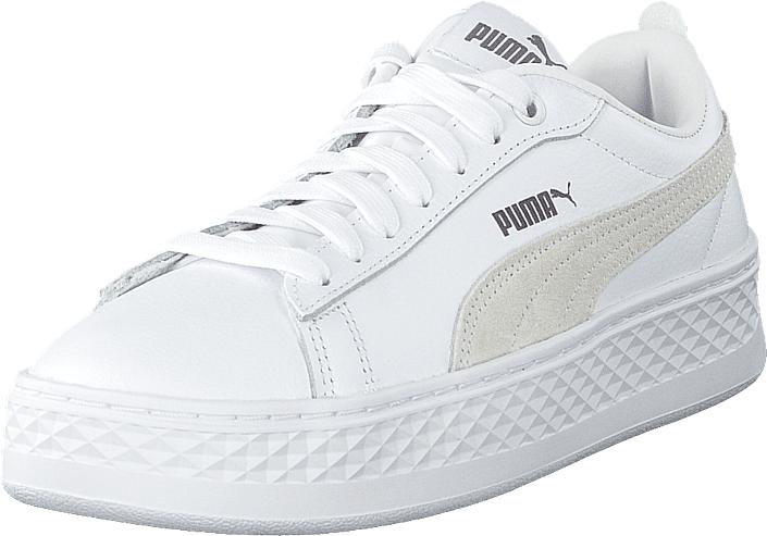 Puma Smash Platform L White, Kengät, Sneakerit ja urheilukengät, Sneakerit, Valkoinen, Naiset, 39