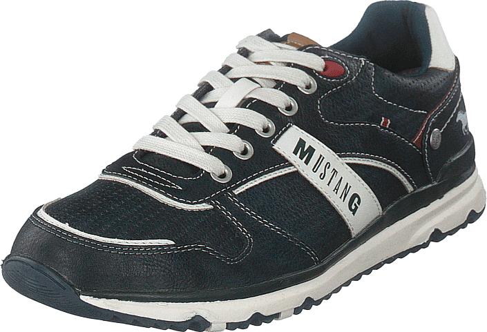 Mustang 4095317 820 Navy, Kengät, Sneakerit ja urheilukengät, Sneakerit, Harmaa, Sininen, Miehet, 41