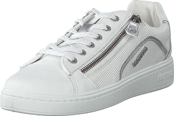 Mustang 1321302 121 Weiß/silber, Kengät, Sneakerit ja urheilukengät, Sneakerit, Harmaa, Naiset, 38