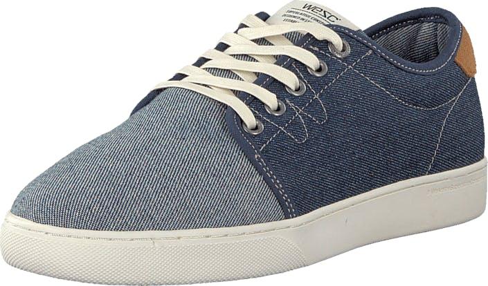 WeSC Off Deck Sneaker Blue, Kengät, Tennarit ja Urheilukengät, Varrettomat tennarit, Harmaa, Sininen, Unisex, 40