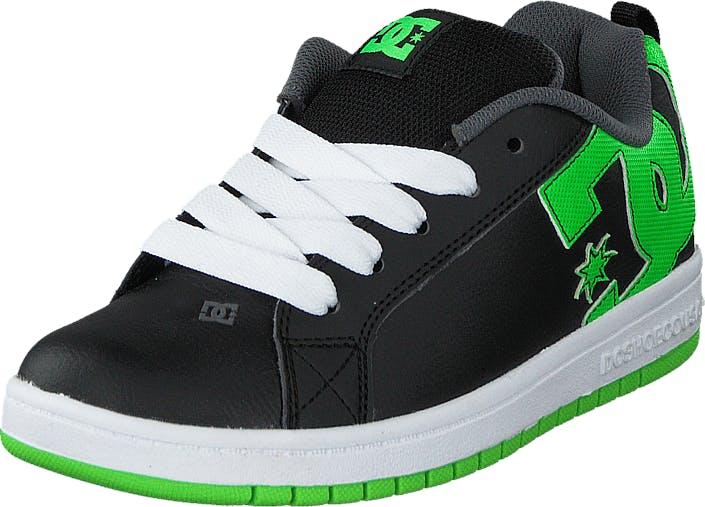 DCShoe Shoes Dc Kids Court Graffik Shoe Blk/Grs, Kengät, Tennarit ja Urheilukengät, Sneakerit, Musta, Lapset, 29