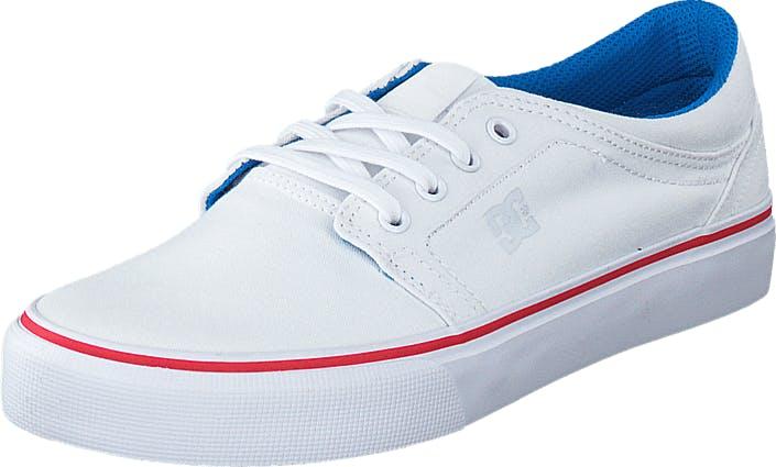 DCShoe Shoes Dc Trase Tx White/Blue/Red, Kengät, Tennarit ja Urheilukengät, Varrettomat tennarit, Valkoinen, Naiset, 36
