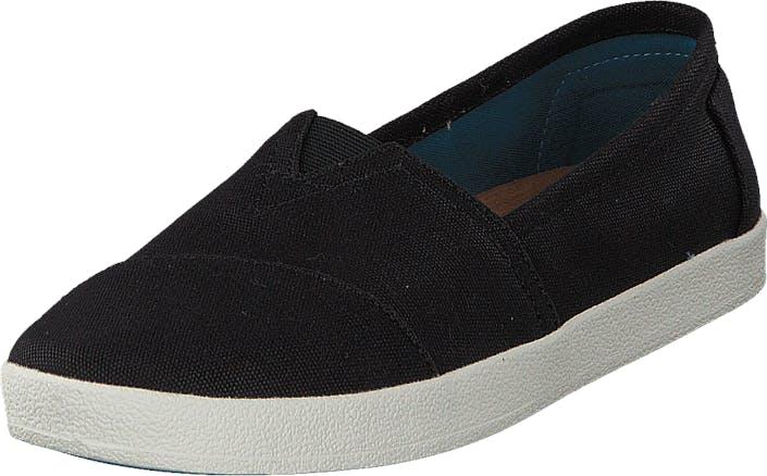 Toms Avlon Slip-On Black Coated Canvas, Kengät, Matalat kengät, Slip on, Musta, Naiset, 37