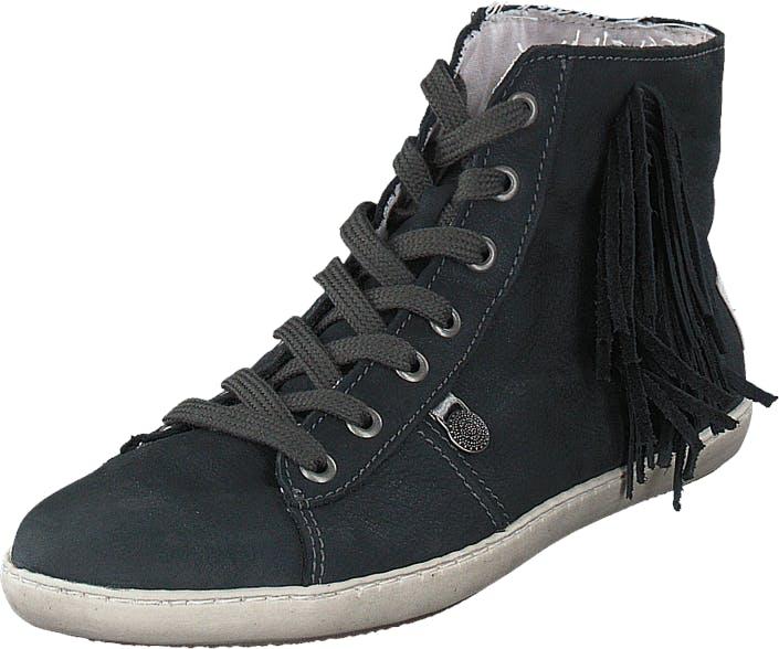 Odd Molly High Five High Sneaker Asphalt, Kengät, Tennarit ja Urheilukengät, Korkeavartiset tennarit, Harmaa, Musta, Naiset, 36