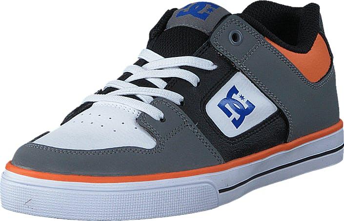 DCShoe Shoes Dc Kids Pure Elastic B Shoe Grey/Blue/White, Kengät, Tennarit ja Urheilukengät, Varrettomat tennarit, Harmaa, Lapset, 28