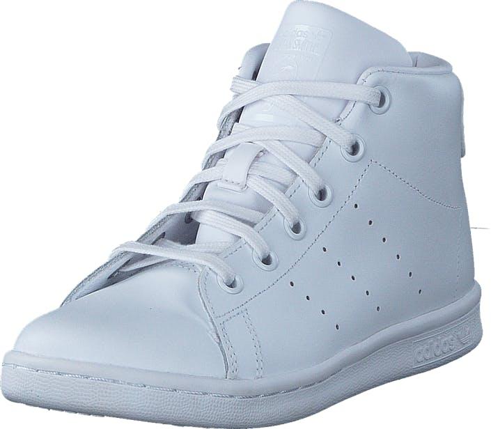 Image of Adidas Originals Stan Smith Mid C Ftwr White/Ftwr White/Ftwr Whi, Kengät, Sneakerit ja urheilukengät, Korkeavartiset tennarit, Valkoinen, Lapset, 32