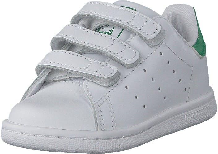 Image of Adidas Originals Stan Smith Cf I Ftwr White/Ftwr White/Green, Kengät, Sneakerit ja urheilukengät, Sneakerit, Valkoinen, Lapset, 24