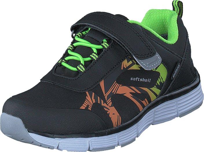 Gulliver 435-0113 Waterproof Softshell Black/Lime, Kengät, Tennarit ja Urheilukengät, Sneakerit, Musta, Lapset, 24