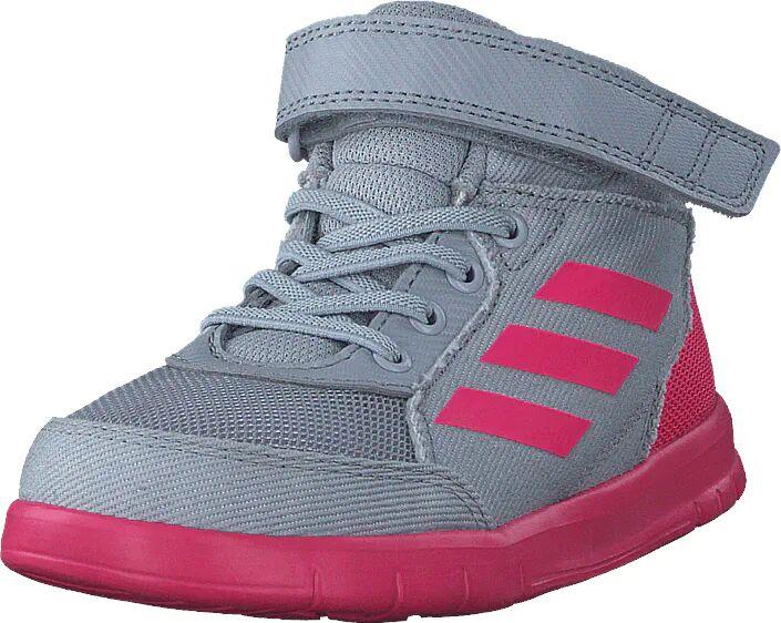 Image of Adidas Sport Performance Altasport Mid El I Grey Two F17/Real Pink S18/Wht, Kengät, Sneakerit ja urheilukengät, Sneakerit, Sininen, Lapset, 26