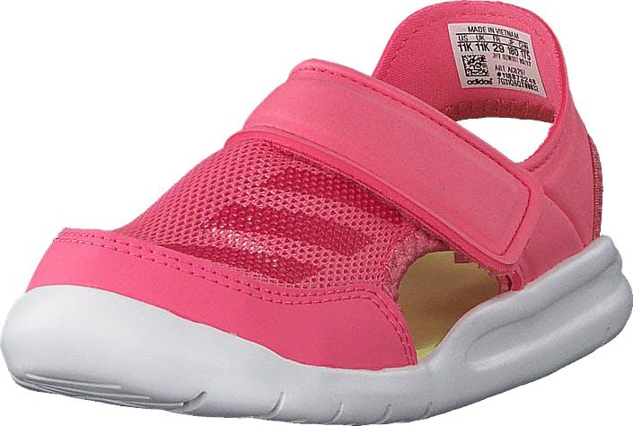 Image of Adidas Sport Performance Fortaswim C ChalkPink S18/Vivid Berry/Wht, Kengät, Matalapohjaiset kengät, Maryjane-kengät, Punainen, Vaaleanpunainen, Lapset, 34