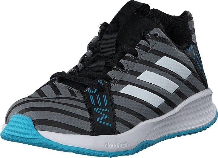 Image of Adidas Sport Performance Rapidaturf Messi K Core Black/Ftwr Wht/Super Cyan, Kengät, Sneakerit ja urheilukengät, Sneakerit, Harmaa, Lapset, 29