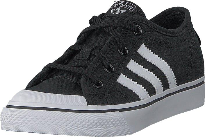 Image of Adidas Originals Nizza C Core Black/Ftwr White, Kengät, Sneakerit ja urheilukengät, Sneakerit, Musta, Lapset, 28