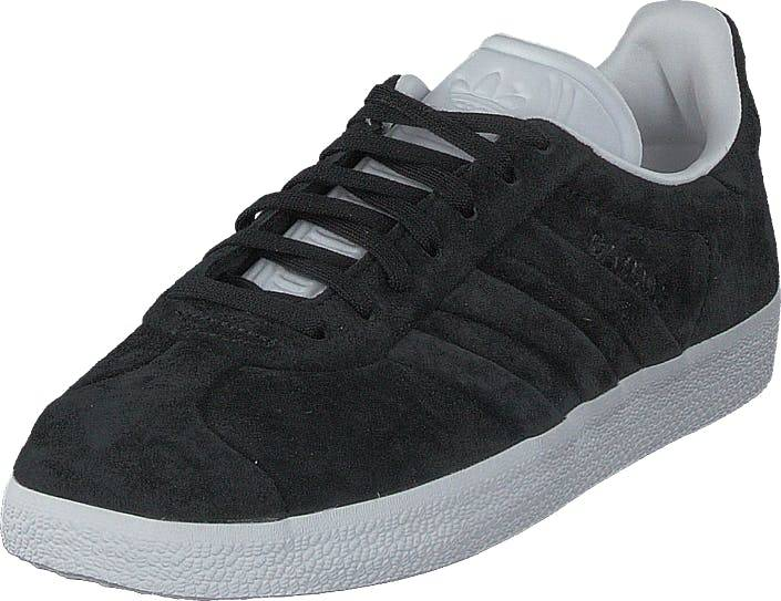 Image of Adidas Originals Gazelle Stitch And Turn Core Black/Ftwr White, Kengät, Sneakerit ja urheilukengät, Varrettomat tennarit, Musta, Unisex, 40