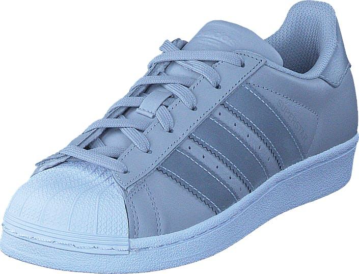 Adidas Originals Superstar J Lgh Solid Grey/Silver Met/Wht, Kengät, Tennarit ja Urheilukengät, Sneakerit, Sininen, Lapset, 39