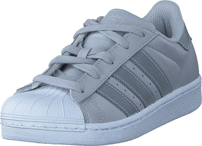 Adidas Originals Superstar C Lgh Solid Grey/Silver Met/Wht, Kengät, Tennarit ja Urheilukengät, Sneakerit, Sininen, Lapset, 31
