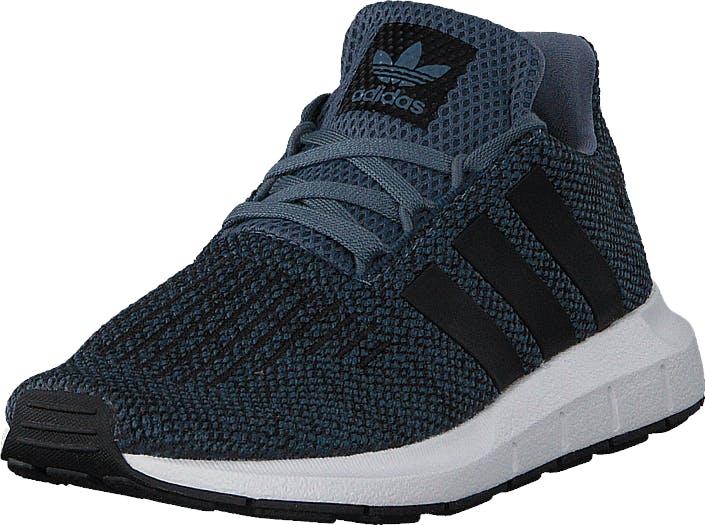 Image of Adidas Originals Swift Run C Raw Steel S18/Core Black, Kengät, Sneakerit ja urheilukengät, Sneakerit, Musta, Lapset, 30