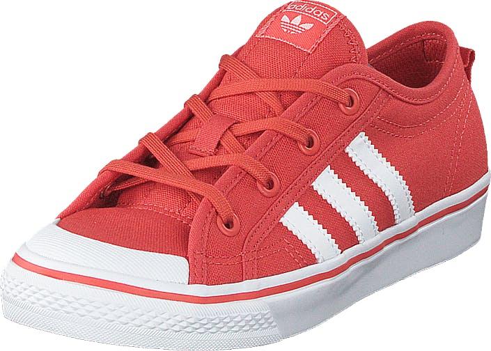 Image of Adidas Originals Nizza C Trace Scarlet S18/Ftwr White, Kengät, Sneakerit ja urheilukengät, Varrettomat tennarit, Punainen, Lapset, 29