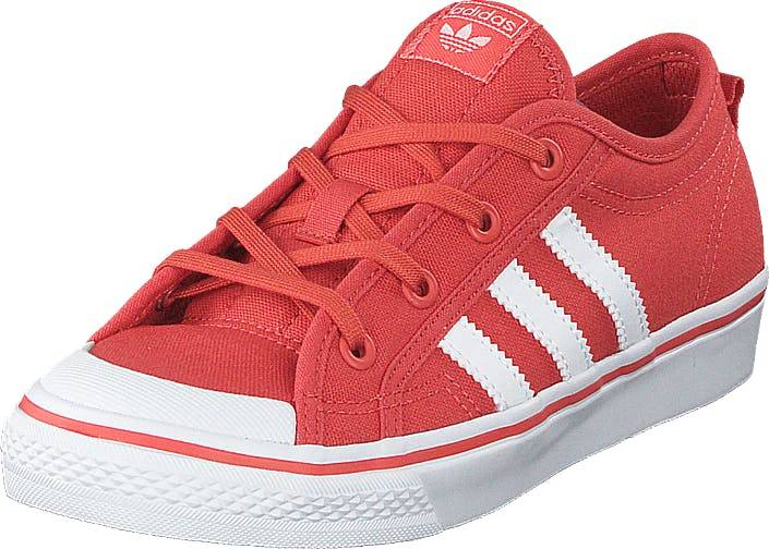 Image of Adidas Originals Nizza C Trace Scarlet S18/Ftwr White, Kengät, Sneakerit ja urheilukengät, Varrettomat tennarit, Punainen, Lapset, 31