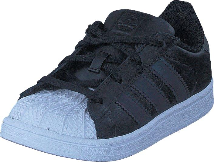 Image of Adidas Originals Superstar I Core Black/Ftwr White, Kengät, Sneakerit ja urheilukengät, Sneakerit, Musta, Lapset, 20