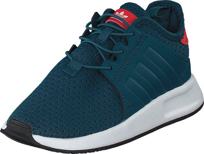 Image of Adidas Originals X_Plr El I Petrol Night F17/Ftwr White, Kengät, Sneakerit ja urheilukengät, Sneakerit, Turkoosi, Lapset, 27