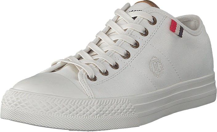 Henri Lloyd Bromley Sneaker Offwhite, Kengät, Tennarit ja Urheilukengät, Varrettomat tennarit, Harmaa, Valkoinen, Miehet, 44