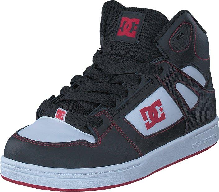 DCShoe Shoes Pure High-top Black/Red/White, Kengät, Tennarit ja Urheilukengät, Korkeavartiset tennarit, Harmaa, Lapset, 30