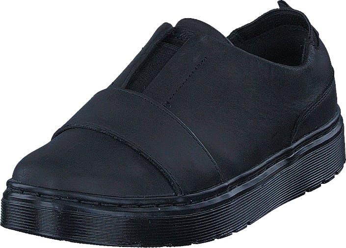 Image of Dr Martens Lylah Black Mono, Kengät, Sneakerit ja urheilukengät, Sneakerit, Musta, Naiset, 39