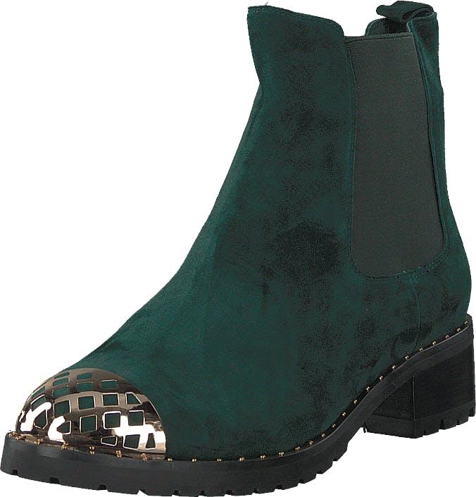 Sofie Schnoor Boot Suede Dark Green, Kengät, Bootsit, Chelsea boots, Harmaa, Vihreä, Naiset, 40