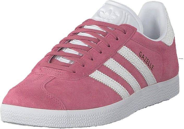Image of Adidas Originals Gazelle W Tramar/ftwwht/ftwwht, Kengät, Sneakerit ja urheilukengät, Sneakerit, Vaaleanpunainen, Naiset, 40