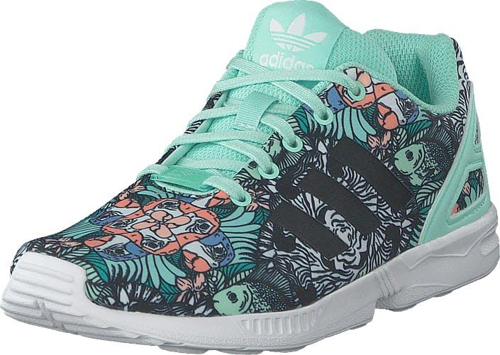 Image of Adidas Originals Zx Flux C Clemin/cblack/ftwwht, Kengät, Sneakerit ja urheilukengät, Korkeavartiset tennarit, Sininen, Lapset, 31