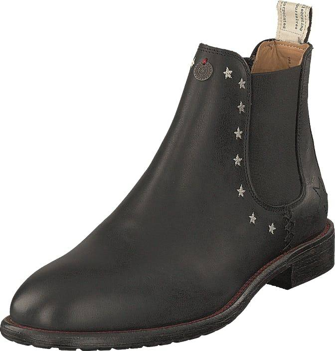 Image of Odd Molly Mollyhood Low Leather Almost Black, Kengät, Bootsit, Chelsea boots, Harmaa, Naiset, 38