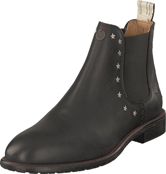 Odd Molly Mollyhood Low Leather Almost Black, Kengät, Bootsit, Chelsea boots, Harmaa, Naiset, 38