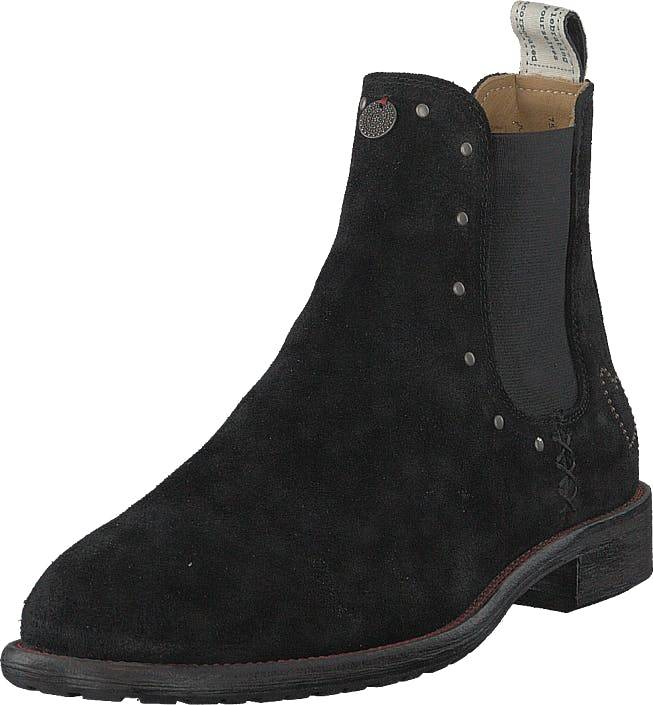 Odd Molly Mollyhood Low Suede Almost Black, Kengät, Bootsit, Chelsea boots, Musta, Naiset, 39