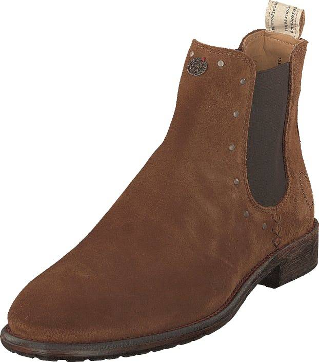 Odd Molly Mollyhood Low Suede Brown, Kengät, Bootsit, Chelsea boots, Ruskea, Naiset, 36