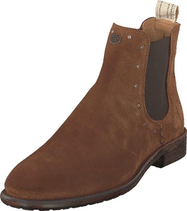 Odd Molly Mollyhood Low Suede Brown, Kengät, Bootsit, Chelsea boots, Ruskea, Naiset, 39