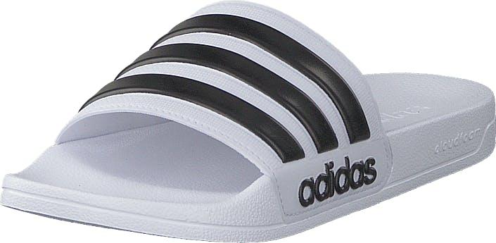 Adidas Sport Performance Adilette Shower Ftwwht/cblack/ftwwht, Kengät, Sandaalit ja Tohvelit, Sandaalit, Valkoinen, Unisex, 40
