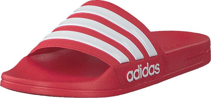 Adidas Sport Performance Adilette Shower Scarle/ftwwht/scarle, Kengät, Sandaalit ja Tohvelit, Sandaalit, Punainen, Unisex, 37