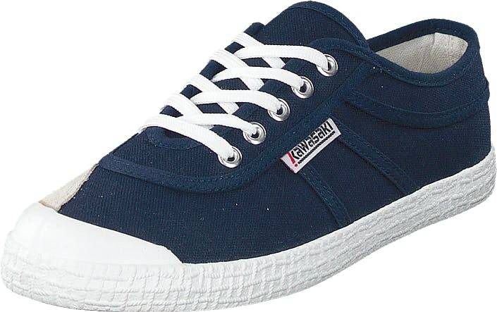 Kawasaki Original Navy, Kengät, Sneakerit ja urheilukengät, Varrettomat tennarit, Sininen, Unisex, 36