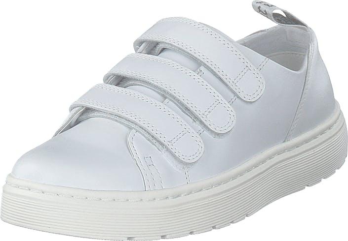 Image of Dr Martens Dante Strap White, Kengät, Sneakerit ja urheilukengät, Sneakerit, Valkoinen, Naiset, 36