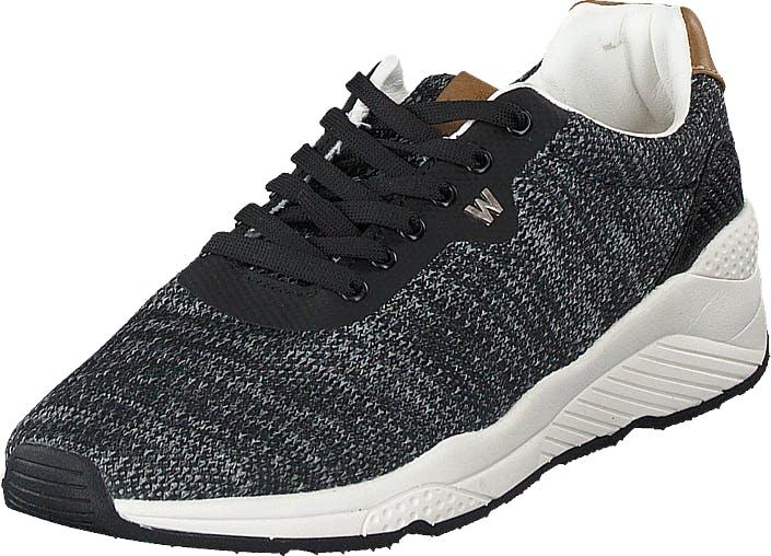 Wrangler Salina Knitted Black, Kengät, Tennarit ja Urheilukengät, Sneakerit, Harmaa, Naiset, 38