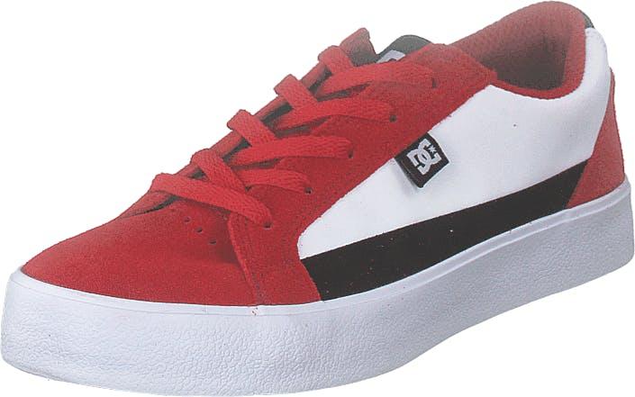 DCShoe Shoes Lynnfield Red/black/white, Kengät, Tennarit ja Urheilukengät, Varrettomat tennarit, Punainen, Lapset, 34