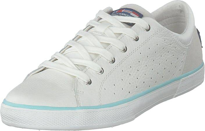 Image of Helly Hansen W Copenhagen Leather Shoe Off White/blue Tint, Kengät, Sneakerit ja urheilukengät, Varrettomat tennarit, Valkoinen, Naiset, 41