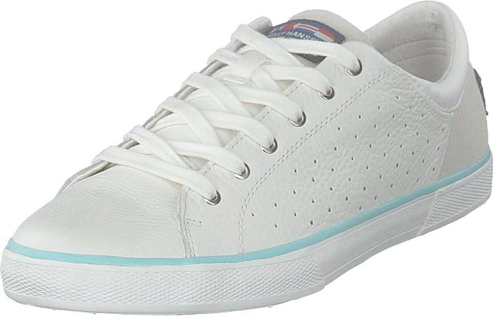 Image of Helly Hansen W Copenhagen Leather Shoe Off White/blue Tint, Kengät, Sneakerit ja urheilukengät, Varrettomat tennarit, Valkoinen, Naiset, 38