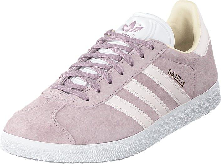 Image of Adidas Originals Gazelle W Sofvis/orctin/ecrtin, Kengät, Sneakerit ja urheilukengät, Varrettomat tennarit, Vaaleanpunainen, Harmaa, Naiset, 40