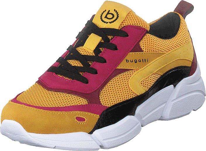 Bugatti Shiggy Multi, Kengät, Sneakerit ja urheilukengät, Sneakerit, Vaaleanpunainen, Oranssi, Keltainen, Naiset, 39