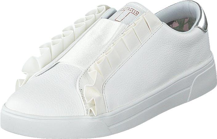 Ted Baker Astelli White Leather, Kengät, Matalapohjaiset kengät, Kangaskengät, Valkoinen, Naiset, 37